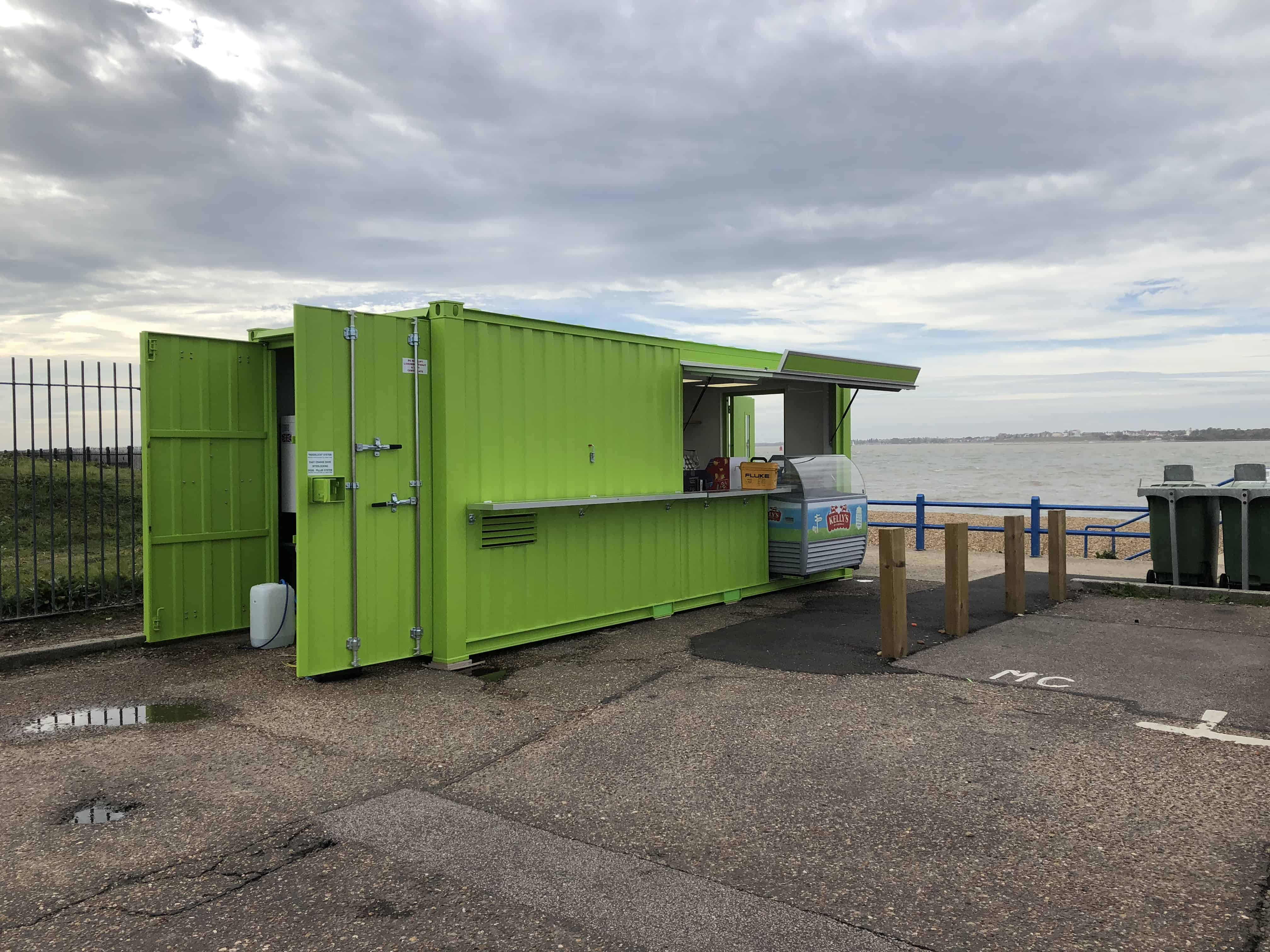 Container style kiosk used for food retail AJC Retail 2